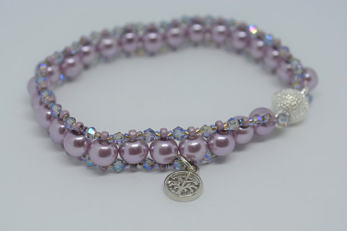 Lavender Pearl Bracelet with Beads
