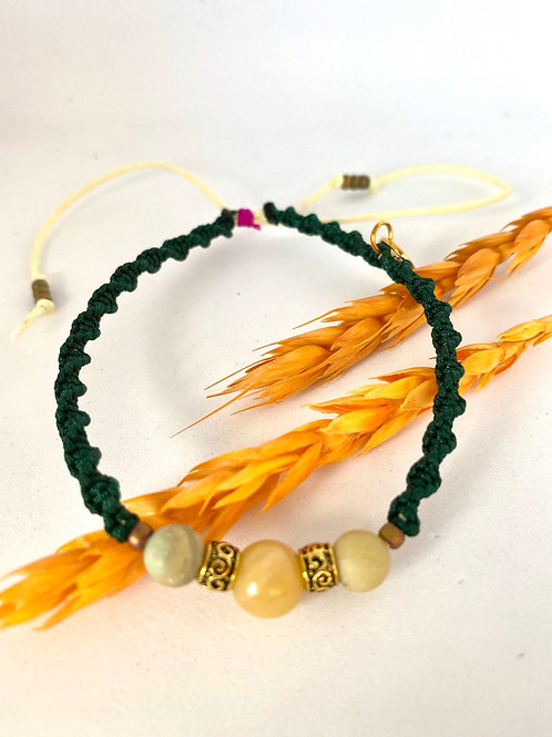 Yellow topaz braid