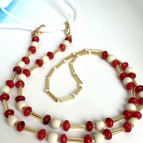 Ching-ling face mask/ eye glass chain