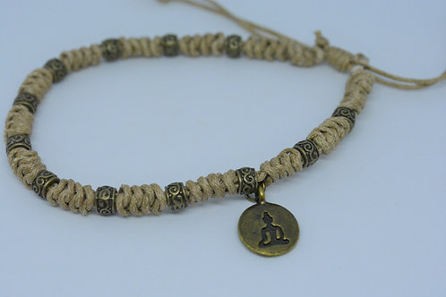 Light Beige Braided Bracelet