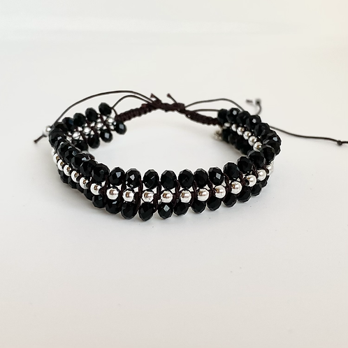 Ebony beaded bracelet