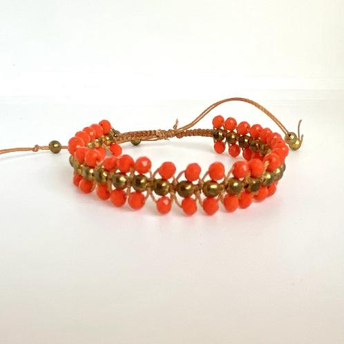 Tangerine beaded bracelet