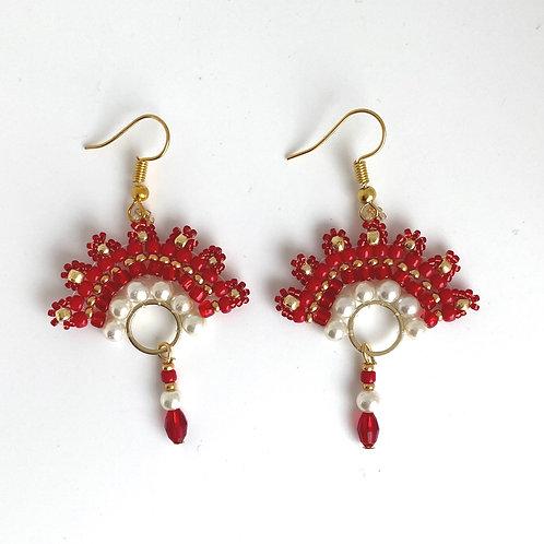 Cixi earrings -Red