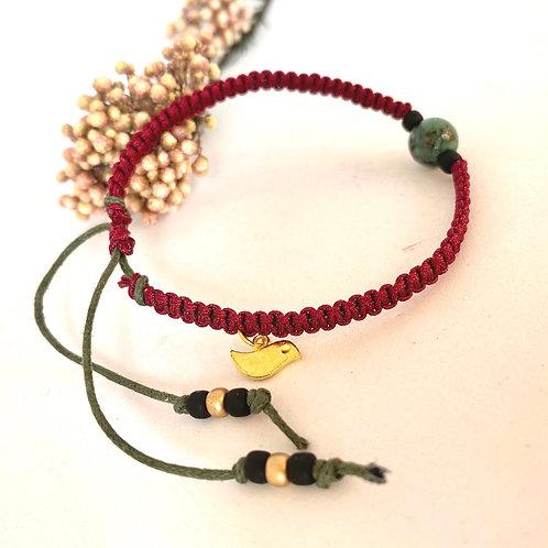 Diana's burgundy bracelet