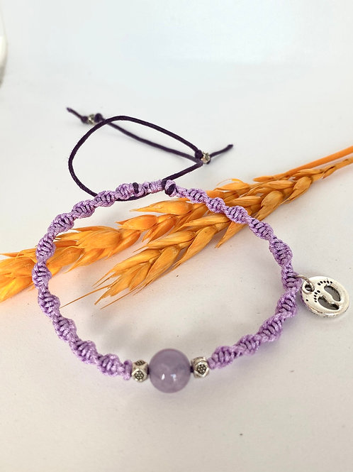 Amethyst braided bracelet