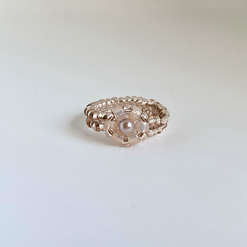 Daisy ring - Peach