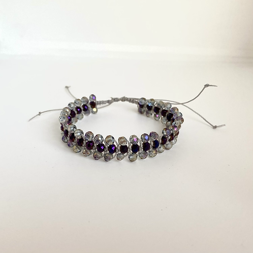 Grey Violet beaded bracelet