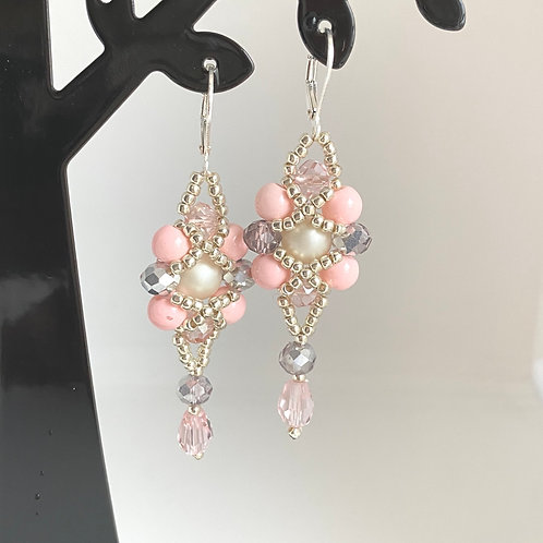 Eva earrings - pink