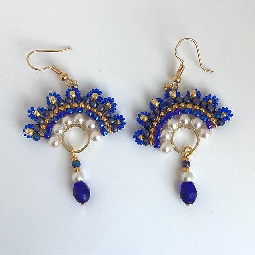 Cixi earrings -Blue