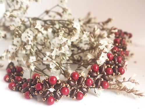Daffodil bracelet - red