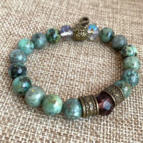 African stone crystal bracelet