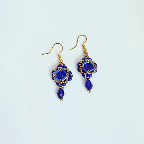 Cecilia earrings- Royal Blue