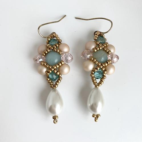 Eva earrings - aqua