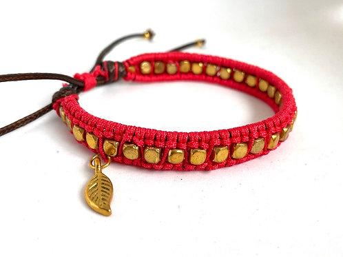Scarlet braided bracelet