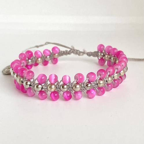 Fuchsia beaded bracelet