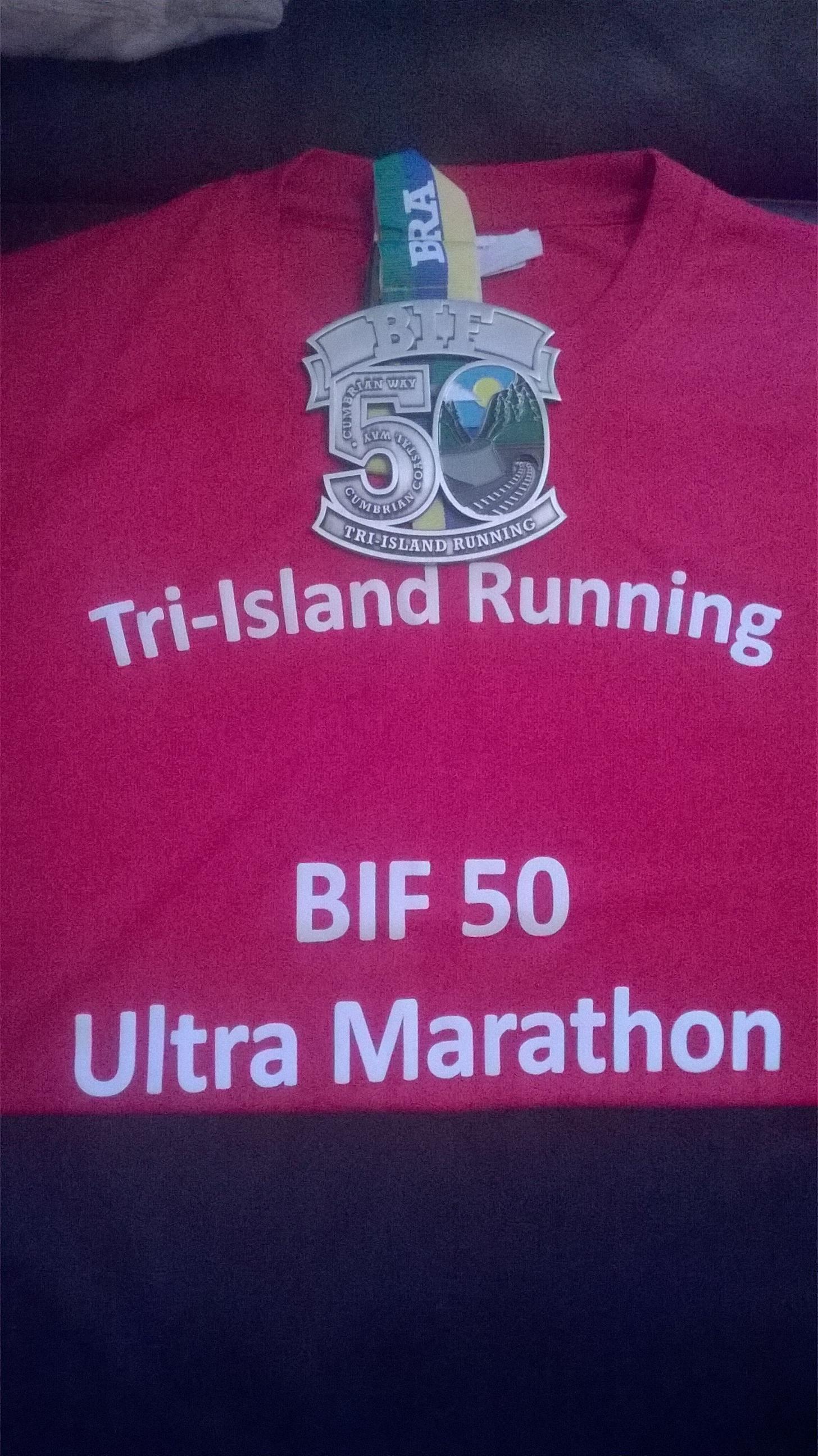 BIF50 medal & T