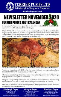 Ferrier November  2020 newsletter front