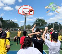 Basketball in P.E. Class