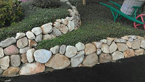 Sand Stone Retaining Wall
