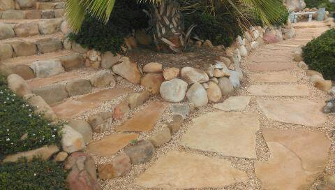 Flagstone Walkway and Stairs