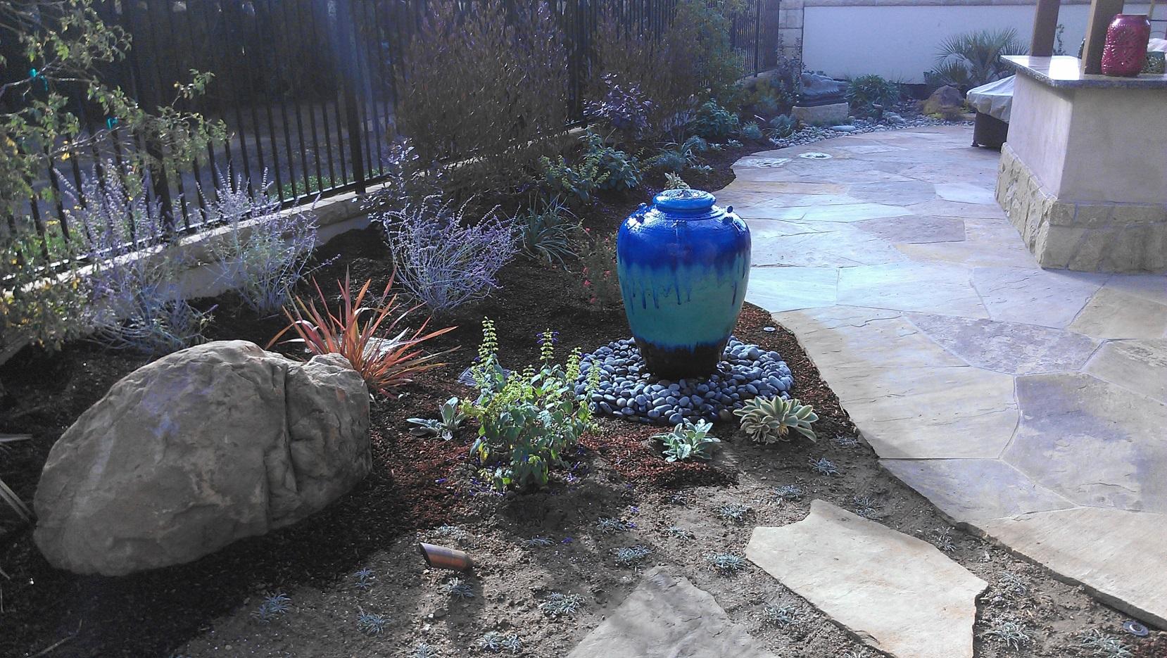 Blue Vase Pondless Fountain