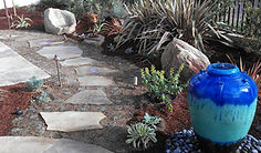 Slate Walkway with Pondless Water Feature