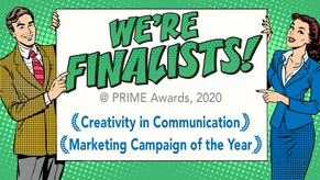 Prime Awards 2020: We're FINALISTS!