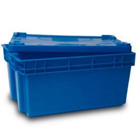 VNO0062 Caja de Plastico Zamora Cerrada 28 con tapa 60x40x28cm