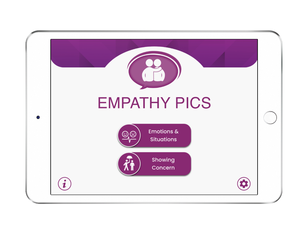 Speech Therapy Apps Free Download: Empathy Pics Lite on iPad