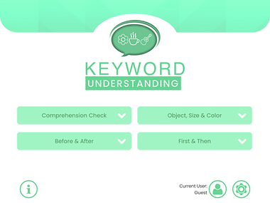 Keyword Understanding App - Following Directions in Speech Therapy