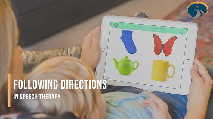 Following directions in speech therapy: Using Keyword Understanding app