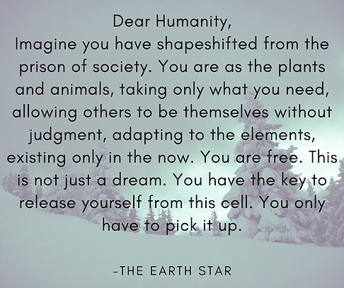 Dear Humanity, Imagine you have shapeshi