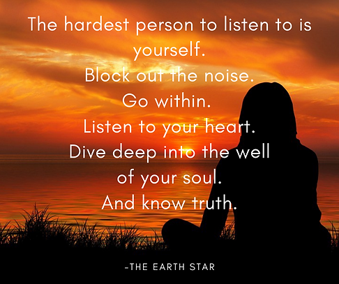 The hardest person to listen to is yours