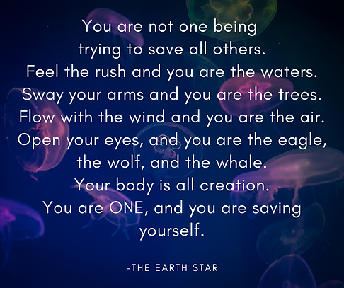 You are not one person trying to save th