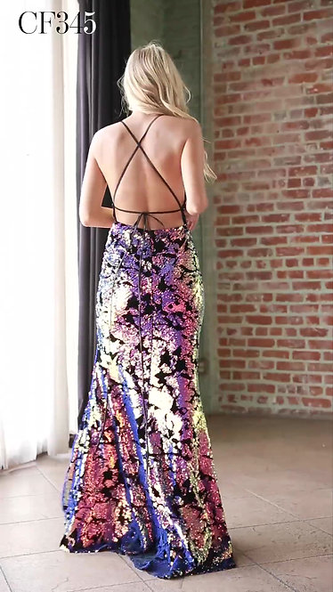 Vestido Ultraviolet CF345 by Cinderella Divine