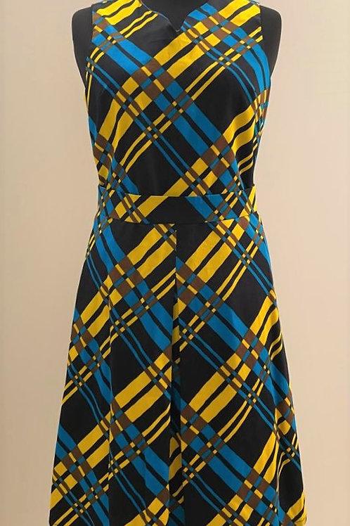 Blaue und gelbe Streifen