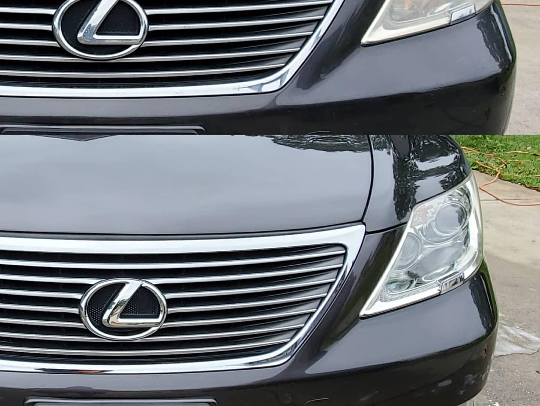 Headlight restoration on Lexus LS430