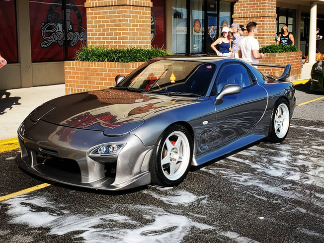 Mazda RX7 received a wash and seal