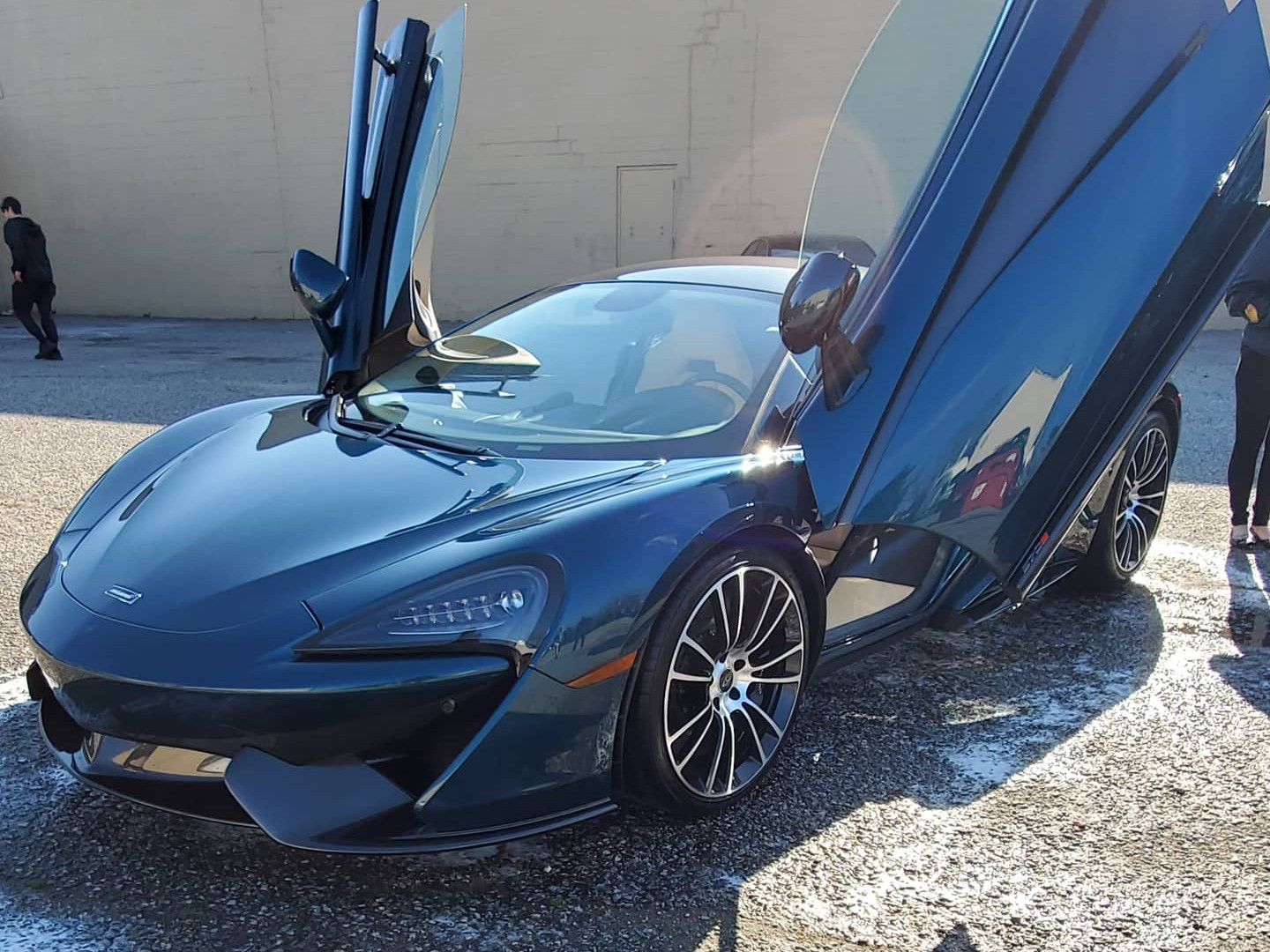 McLaren 570S received a wash and seal