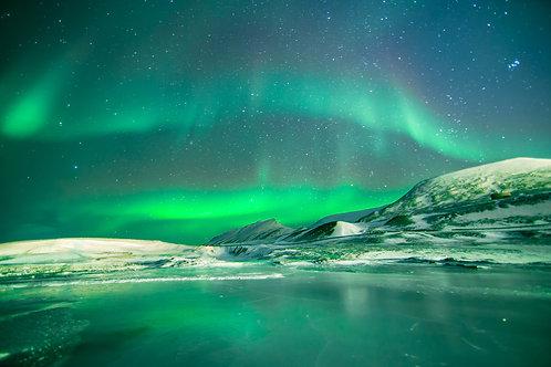 Aurore verte Svalbard