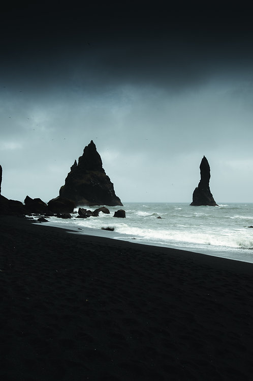 Dark plage Islande