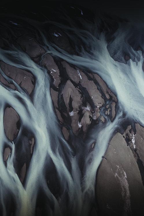 Rivière vue du ciel Islande