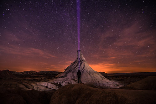 Night Desert Bardenas Espagne Horizontale
