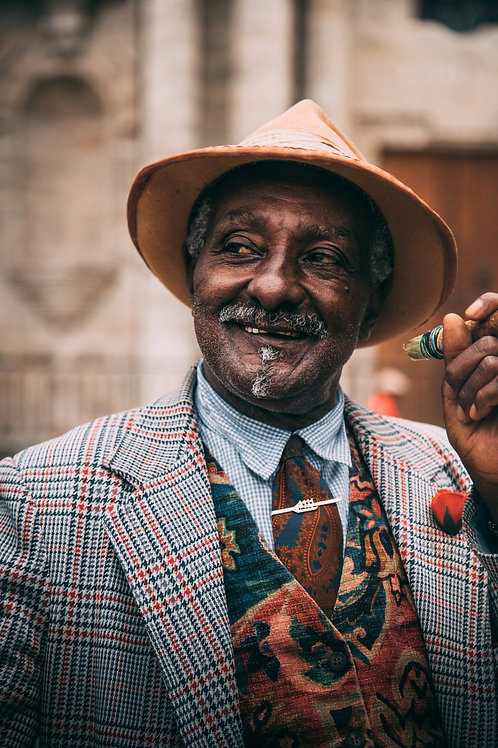 Potrait homme cigar Cuba