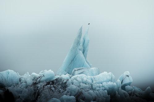 Iceberg pointe Islande
