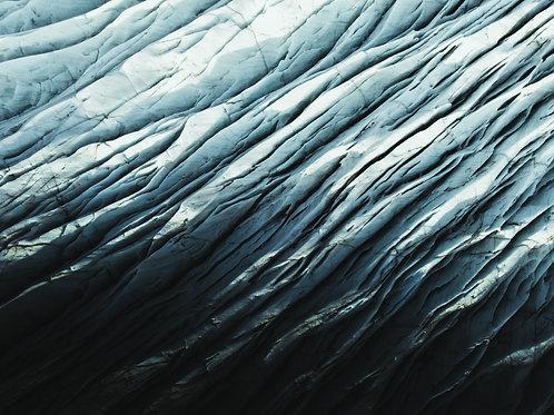 Glacier vue du ciel serré Islande