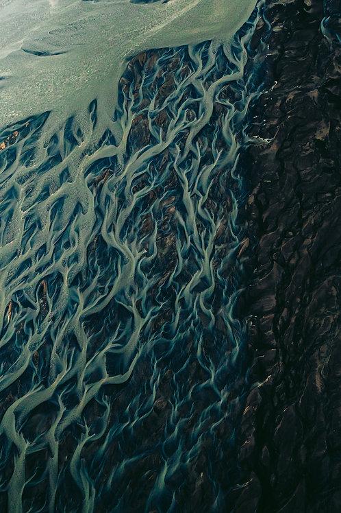 Rivière vue du ciel 3 Islande