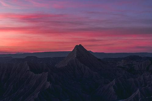 Pink Sunset Desert Bardenas Espagne