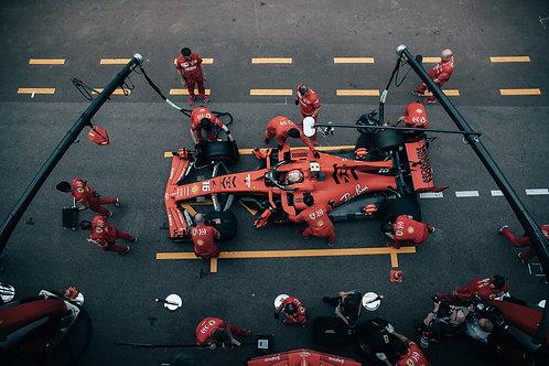 Pit stop 2 Charles Leclerc F1 GP Monaco 2019