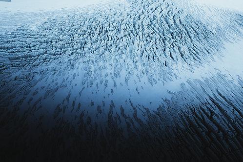 Glacier vue du ciel 2 Islande Horizontal